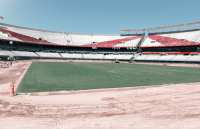 Remodeling and improvement work at the Monumental Stadium