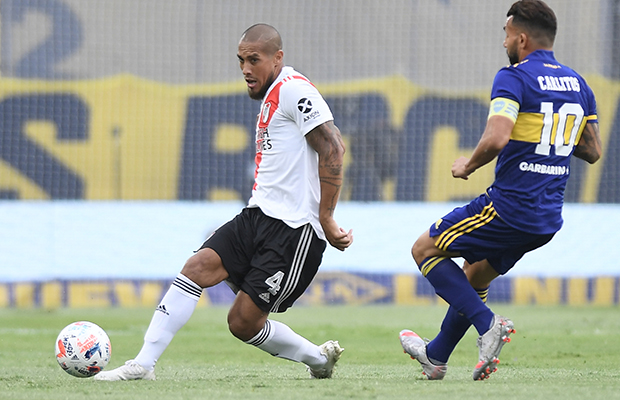 River evened the score playing for the League Cup in La Boca